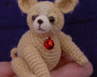Thread Crochet Pattern - Crochet Puppy Pattern - Thread Puppy Miniature Chihuahua - PDF Format