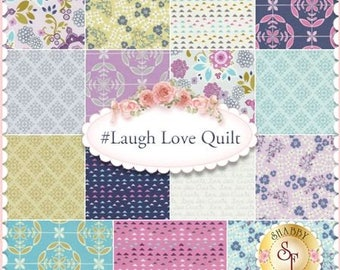 Laugh Love Quilt Fabric | Yardage | Quilting Cotton | By The Yard | Fabric Destash