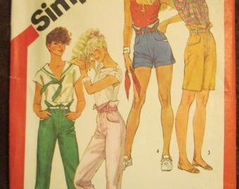 1982 Ladies Simplicity Pattern of Misses Fashion Pants in Four Lengths