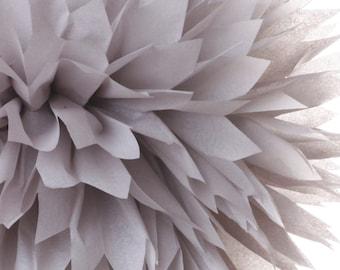 Light Gray 1 Large Tissue Paper Pom Poms