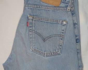 Vintage Levi Jeans - W30 L30 - Stonewashed Pale Button Fly 517
