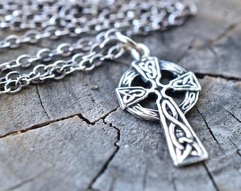 Kildare Sterling silver Irish Celtic Cross