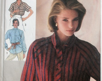 Misses Blouse Sewing Pattern - Misses Shirt Sewing Pattern - Simplicity 7049 - New - Uncut - Size 12 - 14 - 16