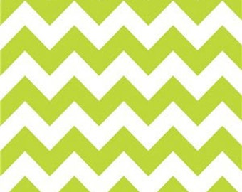 40% OFF SALE!  Chevron Medium Lime - Riley Blake