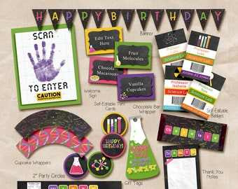 Science Birthday package, Science Party, Science birthday party, Science party package, Science party decorations