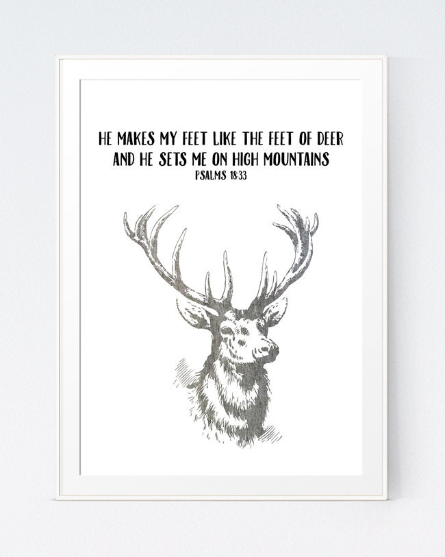 Preferred Deer Bible Verses Deer Bible Quote Christian Print Bible RM53