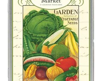 Verkauf Vintage Farmer Markt Carte Postale Postkarten set Garten Obst und Gemüse