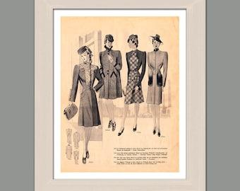 Vintage, Fashion, Illustrated Magazine, Printable Instant Download, Digital Vintage Print, Room Decor