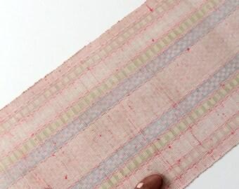 Swedish rag rug, pink floor runner, 1920s trasmatta rug, 16 ft 2 in