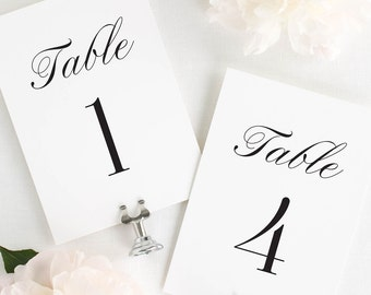 Zarah Table Numbers - 4x6""