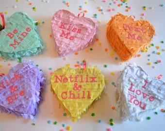Conversation Hearts Mini Pinatas Valentine's Day Favors (Free Domestic Shipping)