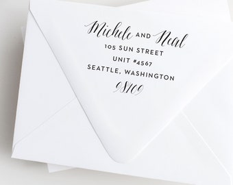 Mixed Calligraphy Address Stamp