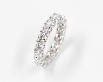 Diamond Wedding Band, Wedding Ring, Engagement Band, Engagement Ring, 3 ctw. Brilliant Cut Eternity Diamond Ring
