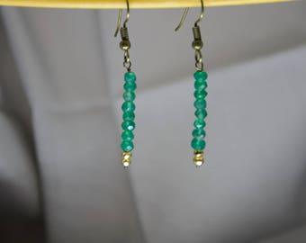 Emelia - green onyx and pyrite