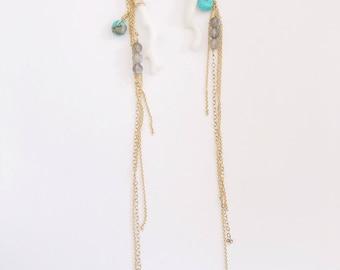 Long Coral Earrings