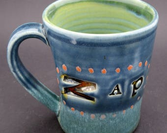 "Mug with ""Zap"" Text"