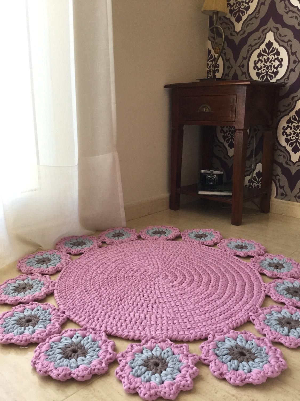 Tshirt Garn Teppich Garten-Modell: Teppich runder Teppich
