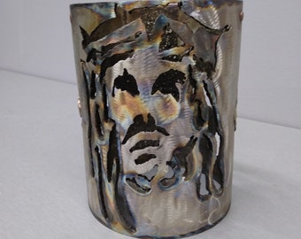 Stainless Candle Cover Jesus