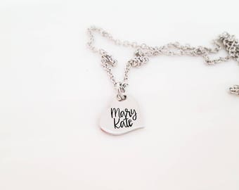 Heart name necklace - name necklace - mommy necklace - mom necklace - grandma - mema - memaw - nana - gift for daughter - personalized