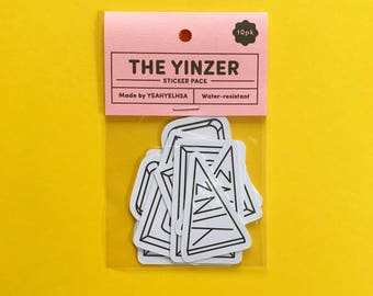 The Yinzer Sticker Pack, Pittsburgh Stickers, Pittsburgh Illustration, Pittsburgh Sticker Pack, Yinzer Stickers, Mother's Day Gift