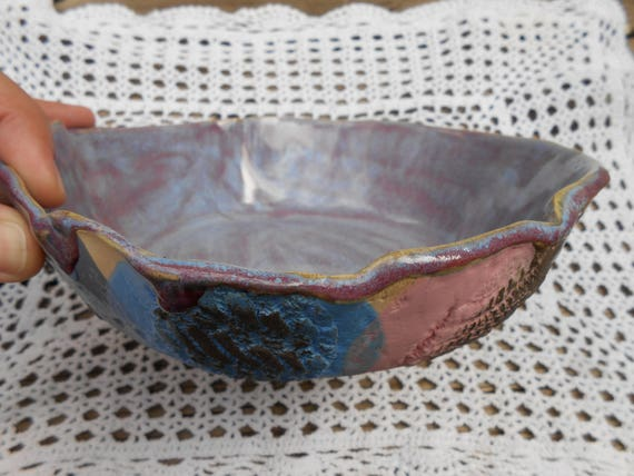 Lacy Lilac Ceramic Bowl