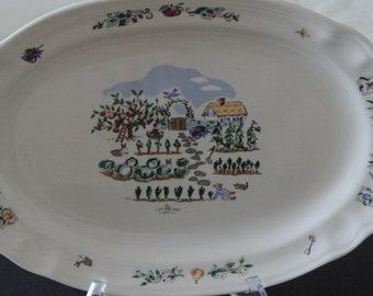 Large plate - serving platter - Pfaltzgraff - Apple Valley - USA