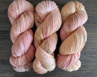 Hand Dyed Yarn - 'When You Were Mine -' Superwash Merino Nylon Fingering Sock Yarn charcoal, grey, black 420 yards