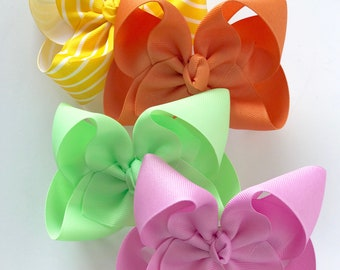 """HairBow Set to match Matilda Jane Wish You Were Here -- Choose 3"""", 4"""", 5"""" 6"""" or 7-8"""" bows"""