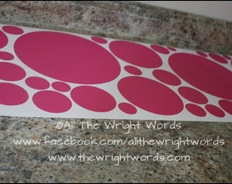 35 Various Size - Polka Dot Wall Decals - Removable - Room Decor - Nursery Decor -Dots - 20 Colors To Choose From!