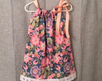 Floral pillowcase dress, toddler dress, little girls dress, summer dress