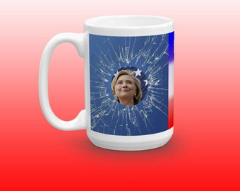 Hilary Clinton Breaking the Glass Ceiling Election 2016 mug