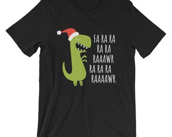 T-rex Fa Rawr Rawr Ra Dinosaur Christmas Xmas Cute Dino T-Shirt