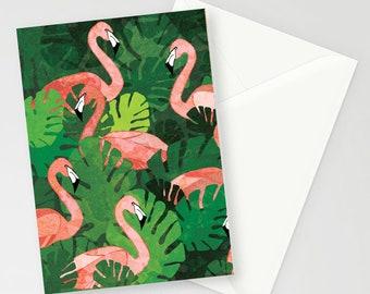 Flamingos Design A6 Greetings Card