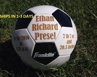Ring Bearer Gift, Personalized Soccer ball, Groomsmen Gift, Personalized Gift, Gender Reveal, Christmas Gift, Sports, Keepsake