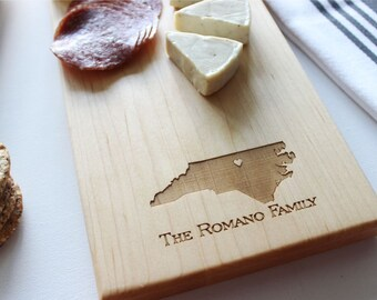 Personalized Cheese Board, State Cutting Board, Home Decor, Christmas Gift, Wedding, Anniversary, Personalized Womens, Gift For Her, Mens