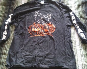 Vintage Ceasars Halloween Shirt Ghost and Pumpkins