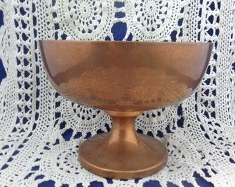 Copper Dish, Copper Wide Mouth Dish, Copper Dish, Vintage Dish Copper, Copper Kitchen, Copper Trinket Dish, Copper Decor, Copper