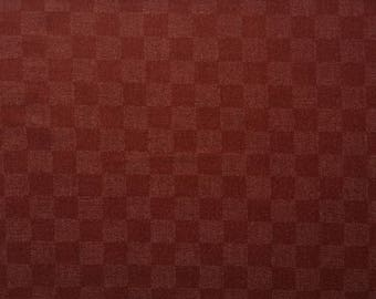 Japanese checkerboard fabric - Sevenberry - pattern traditional purple checkerboard - by 50 cm (110 x)