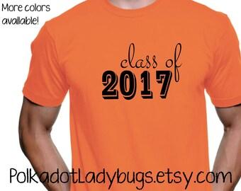 Class Of 2017 Senior Shirt   High School Reunion Shirt   Custom T Shirt