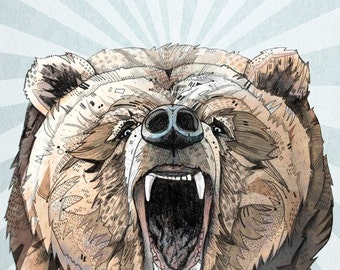Grizzly // A3 print