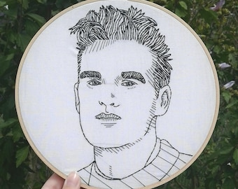 Morrissey The Smiths Handmade Embroidery Portrait
