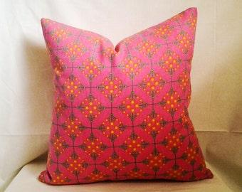 Hot Pink Pillow Cover, 18x18 Pillow Cover, Decorative Pillow, Toss Pillow, Home Decor, Summer, Spring Decor, Young Girl Bedroom Decor