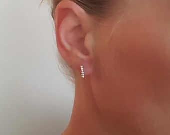 Tiny Bar Earrings, Dot Bar Studs, 925 Sterling Silver Suds, Trendy Bar Earrings, Line Studs Earrings, Earrings For Every Day Use