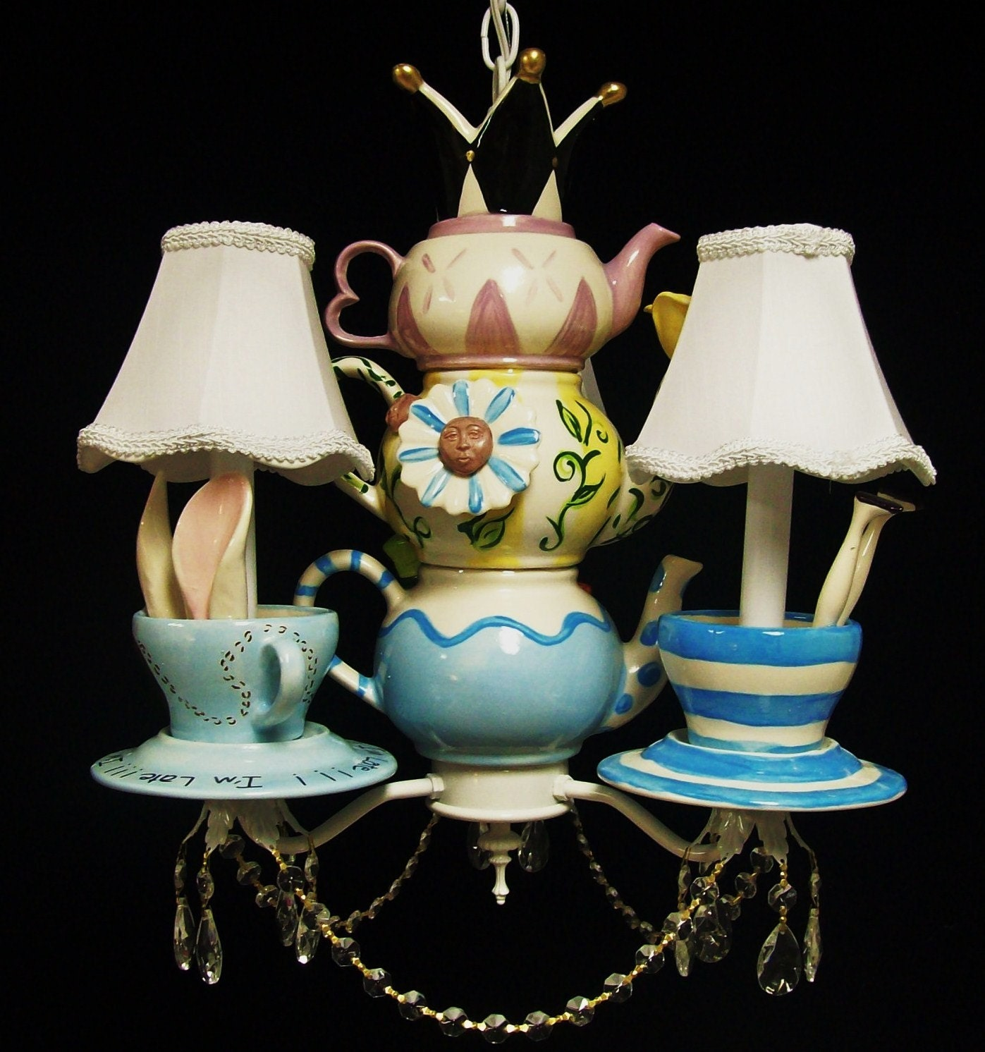 Alice in wonderland mad hatter tea party chandelier mad zoom arubaitofo Choice Image