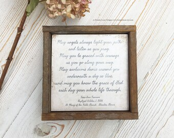 Personalized Baptism Gift, Christening or First Communion Keepsake w/ Date and Location, Godchild Gift, New Baby Gift, Farmhouse Baby