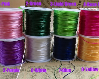 10M/60M Length 0.5mm Elastic Cord High Elastic String Bracelet Elastic Rope Jewelry Diy Cord,There are many colors to choose from-c1030