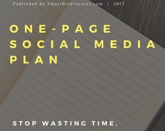 One Page Social Media Plan