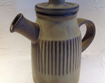 """Vintage Tremar UK stoneware coffee pot """"hobbit style"""" stoneware - 1970s collection / / made in England"""