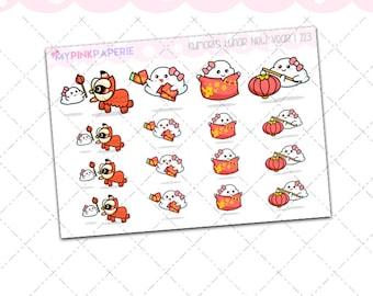223 | Kumori's Lunar New Year | Original Hand Drawn Stickers
