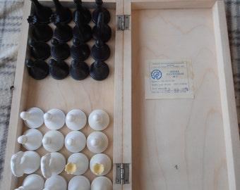 Soviet chess set, vintage chess ussr, retro chess ussr, Vintage soviet plastic chess